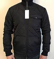 Демисезонная мужская куртка в черном цвете 0421