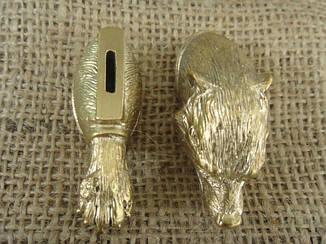 Бронзовый комплект для ножа № 27 Медведь, фото 2