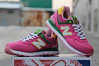 Женские кроссовки New Balance 574 светло розовые в фирменных коробках