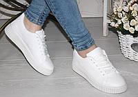 Модные криперы белые 39 размер УЦЕНКА (РАСПАРОВКА) 38-39 размер реплика без логотипов эко-кожа
