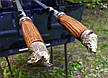 Шампур с деревянной ручкой и бронзовыми навершиями (3мм, 70см, 1шт), фото 3