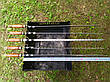 Шампур с деревянной ручкой и бронзовыми навершиями (3мм, 70см, 1шт), фото 4