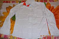 Рубашка детская,Украина.белая.р.128,134,140.ХБ, фото 1