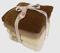 Махровое лицевое полотенце 100х50см (вензель)