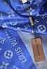 Палантин Louis Vuitton (Луи Витон) синий, фото 8