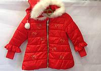 Красная куртка на весну для девочки
