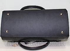 Сумка женская классическая каркасная замшевая 17-20-14-1, фото 3