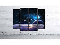 """Модульная картина """"Космос"""" фотопечать на холсте, фото 1"""