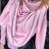Платок/шаль Louis Vuitton (Люрекс-Shine) Monogram 🔥 Розовый
