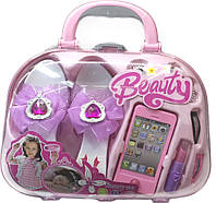 "Набор детский для девочки ""Красота"" (сумочка, косметика, заколки, телефон, туфельки )"