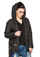 Стильная  женская парка - куртка Мила  (черный)