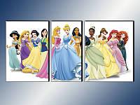 """Модульная картина в детскую """"Disney Princess"""", фото 1"""
