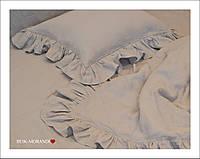 Семейный комплект из 100% льна с оборками на наволочках и пододеяльниках, фото 1