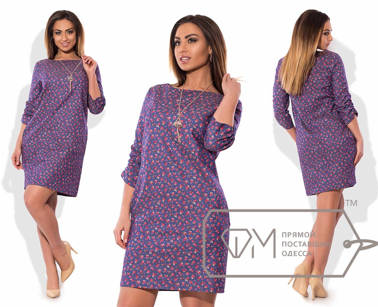 5c73c4a2698 Платье женское синие в мелкий цветочек VV -090 - Dress Up -интернет