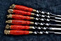 Набор шампуров охотничьих 6шт. (2мм, 69см) в колчане (наличие уточняйте)