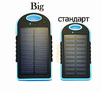 Дополнительная батарея Power Bank SOLOR + LED фонарик 8000 mAh BIG Blue
