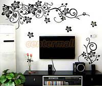 """Наклейка на стену, украшения стены наклейки  """"Романтические цветы"""" узоры на стену 100*108см (лист 50*70см)"""