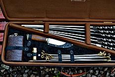 """Подарочный набор """"Буржуй"""" (шампура, нож, фляга, карты) (наличие уточняйте)"""