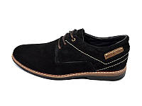 Мокасины натуральная кожа замша Multi Shoes ML Black р: 41 42 43 44 45
