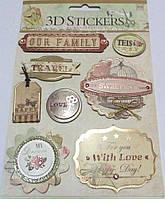 Наклейки для открытки 3D Stickers