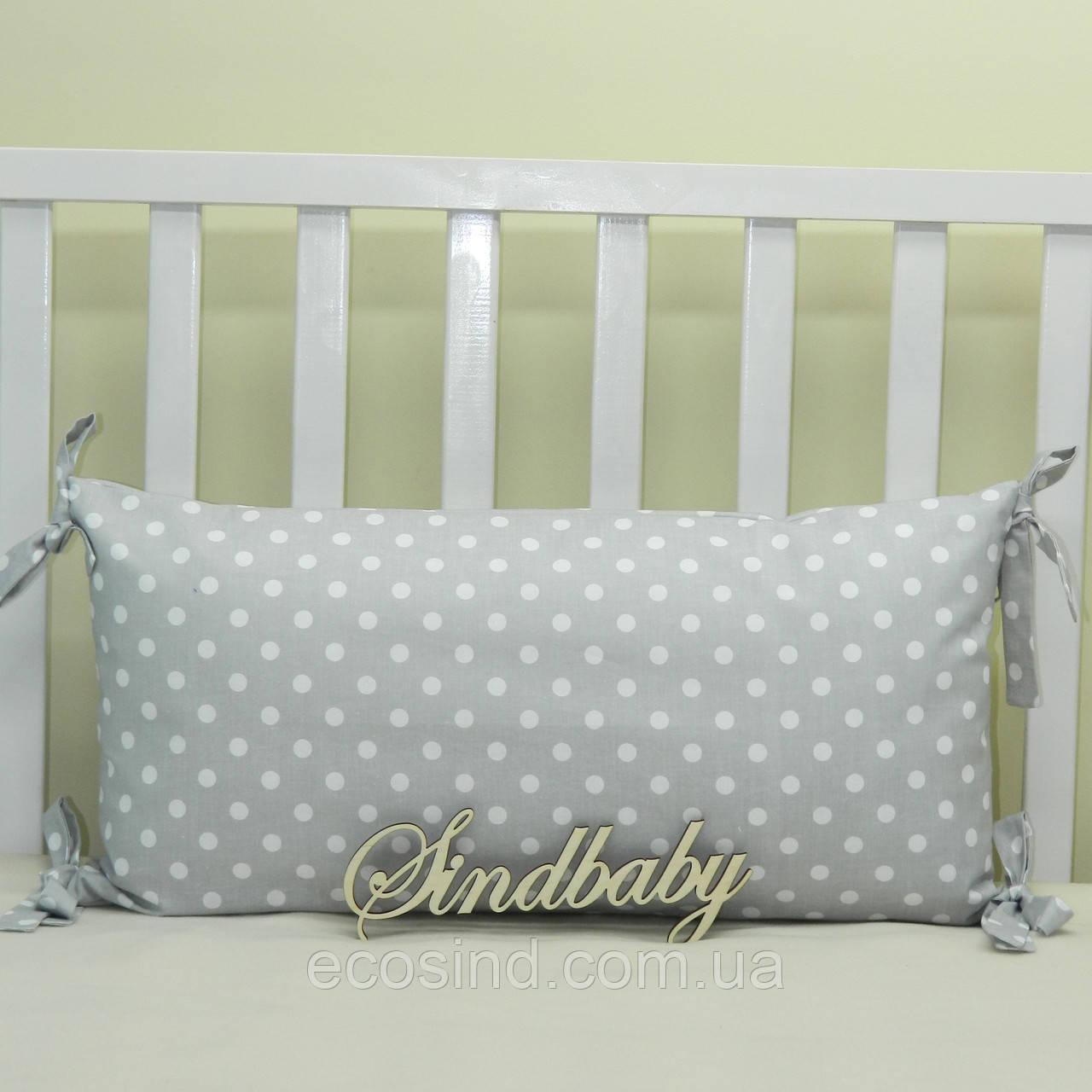 Бортики подушки в кроватку, Подушка 30х60 -08