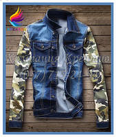 Ждинсовая куртка с рукавами из флиса. Цена от 299 грн с НДС.