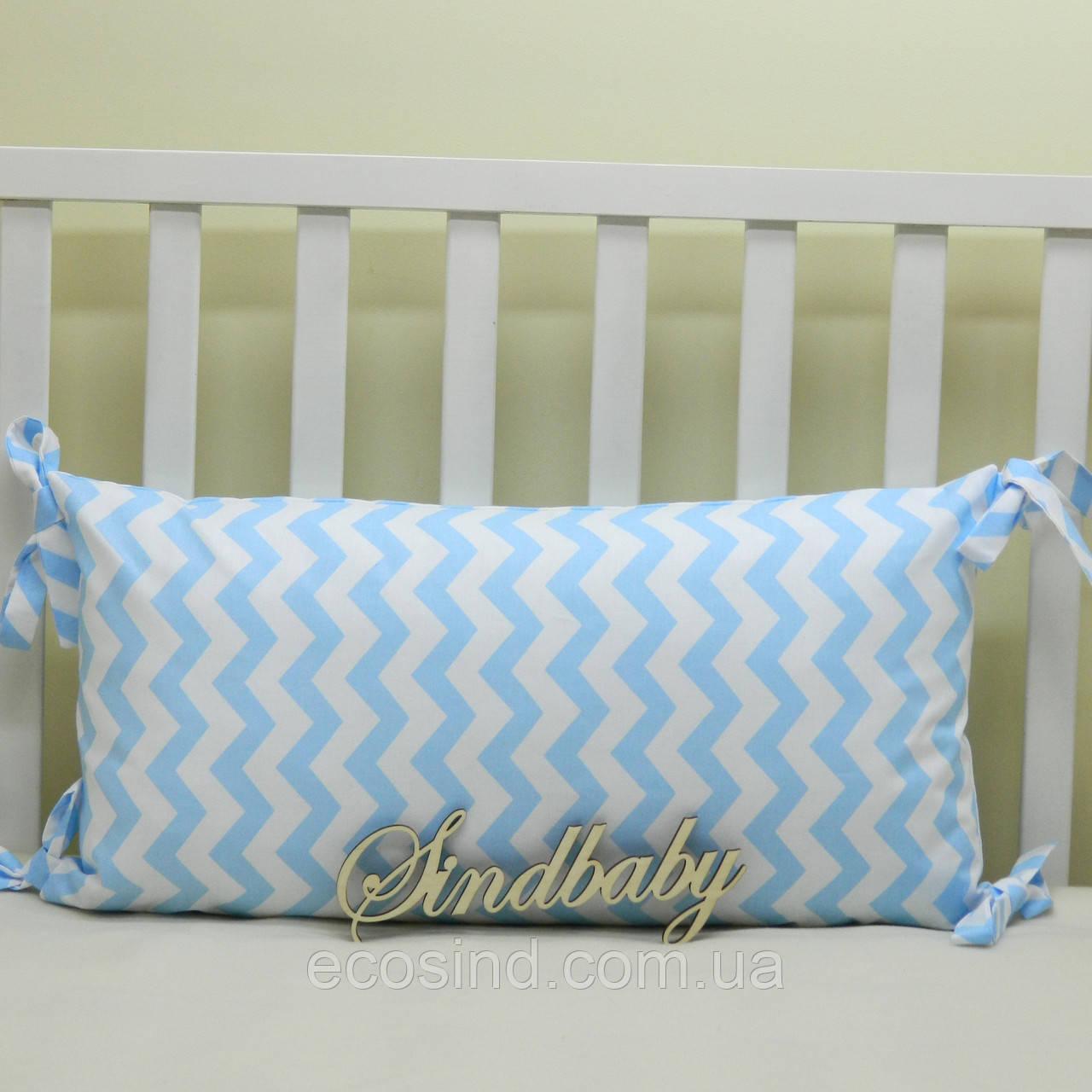 Бортики подушки в кроватку, Подушка 30х60 -09
