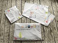"""Детский комплект постельного белья """"Семья"""" для новорожденных"""
