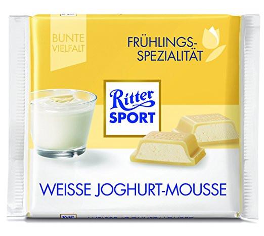 Шоколад Ritter Sport Weisse Joghurt Mousse (Риттер Спорт йогурт мусс), 100 г
