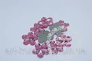 Цветок для декора розовый большой, 16 мм, 10 шт. в наборе