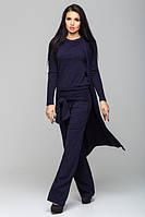 Стильный женский темно-синий костюм Монако   Leo Pride  44-46 размеры