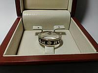 Мужское золотое кольцо Булгари с черной эмалью, фото 1