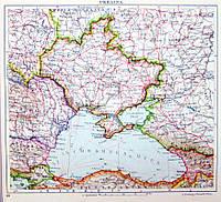 Карта Украинской народной республики УНР 1920 год