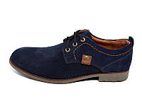 Мокасины натуральная кожа замша S.T Fashion Sart 707 Blue Размер:  41 43 44