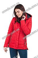 Стильная демисезонная женская куртка красная Миа