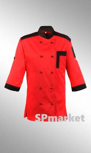 Китель для повара красный