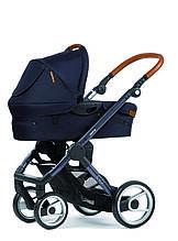 Классическая коляска «Mutsy» EVO Urban Nomad, цвет Deep Navy / Dark Grey Cognac (EVO16UNINDG-COTEVOI