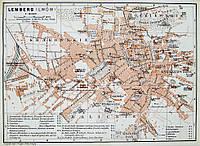 Старинный план Львова. XIX век