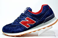 Мужские кроссовки New Balance 574 Classic, Dark Blue\Red