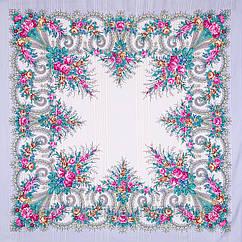 """Платок шерстяной с просновками и шелковой бахромой """"Лариса"""", вид 7, 146x146 см"""