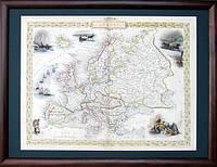 Старинная карта Европы 19 век