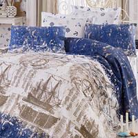 Покрывало Pike  Eponj Home  Pusula синее 200*235