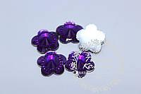 Цветок-страза фиолетовый, 1,6 мм