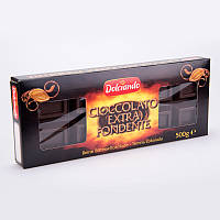 Горький классический шоколад 50% какао Cioccolato extra Fondente, 500 гр