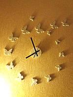 "Часы-наклейка Feron NL24 ""Бабочки"""