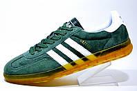 Мужские кроссовки Adidas Gazelle Indoor (Green)