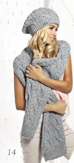 Красивый оригинальный теплый вязаный шарфик Etina, Pawonex