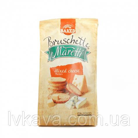 Грінки Bruschette Mixed Cheese Maretti, 70 гр, фото 2