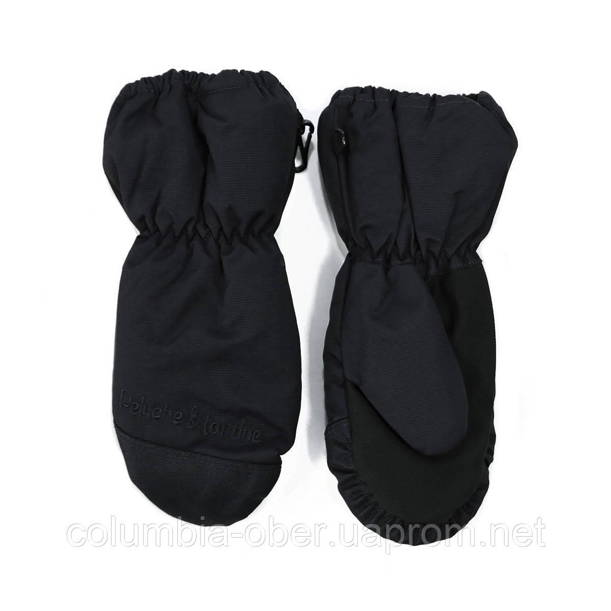 Зимние рукавицы - краги для мальчика Peluche&Tartine 58 EF MIT F16 Black. Размер 3/4 -  7/8.