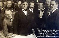 Оригинальная фотография - Подписание Брестского мира между Украиной и Германией 9 февраля 1918 г